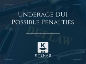 Underage DUI possible penalties
