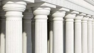 Courthouse white pillars